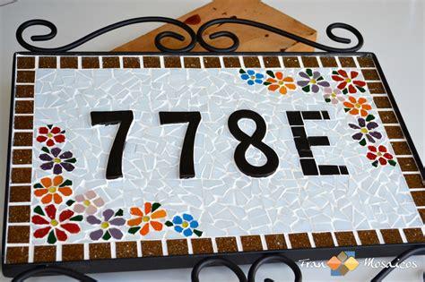 mosaico casa placa n 250 mero de casa mosaico fran mosaicos elo7