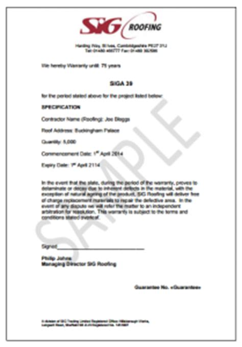workmanship guarantee template image gallery sle warranty