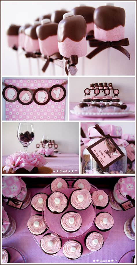Girly Baby Shower Theme Ideas real brown pink baby shower
