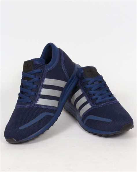adidas los angeles trainers mystery blue originals shoes mens