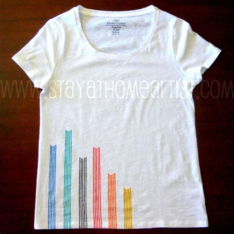 Decorating T Shirts With Fabric Markers by Stayathomeartist Linear Design T Shirt