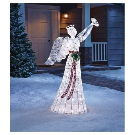 lighted angel outdoor christmas decorations angels lighted yard displays christmas wikii