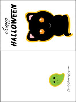 Halloween Gift Card Template - free halloween cards printable festival collections