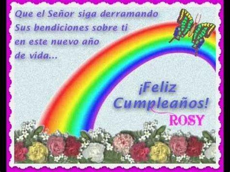 Imagenes De Feliz Cumpleaños Rosy | feliz cumplea 209 os rosy nava youtube
