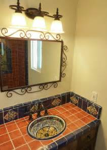 bathroom vanity using mexican tiles by kristiblackdesigns