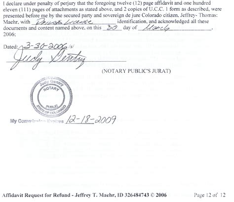 Gift Letter Notary Free Sle Affidavit For Michigan Gt Gt