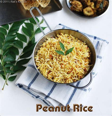 Raks Kitchen Tomato Rice by Peanut Rice Recipe Easy Lunch Box Ideas Raks Kitchen