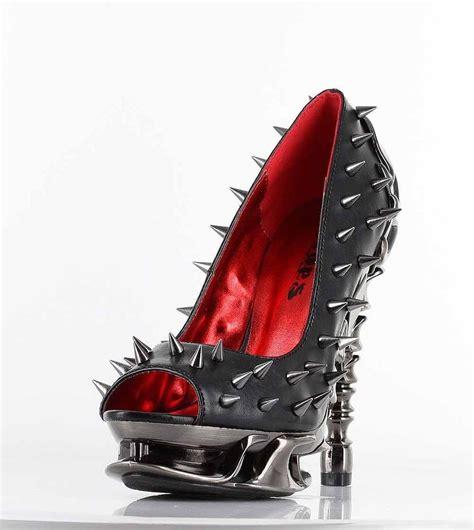 high heel spikes hades talon peeptoe high heel black spinal frame spike