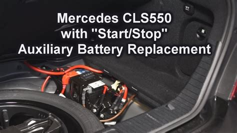 mercedes auxiliary battery mercedes cls550 with start stop auxiliary battery