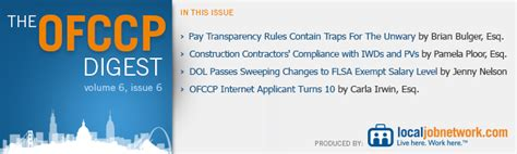 executive order 11246 section 202 the ofccp digest volume 6 issue 6 local jobnetwork on