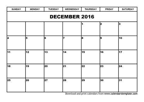 free december calendar template december 2016 calendar template