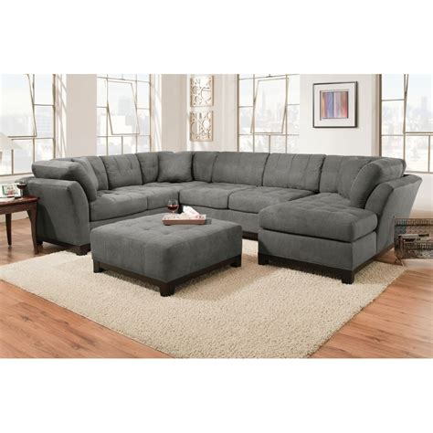 Loveseat Sectional Sofas Manhattan Sectional Sofa Loveseat Rsf Chaise Slate Manhttnrsf3pcsltdft Living Room