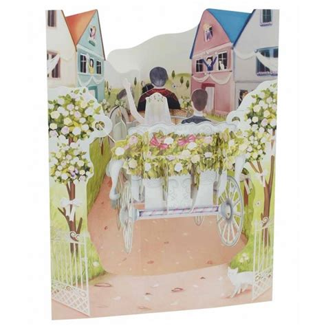 swing cards santoro 3d swing cards wedding carriage ebay