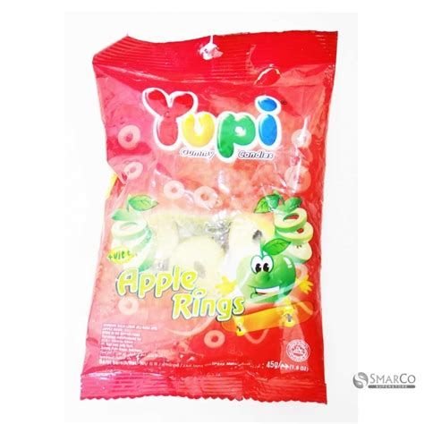 Permen Apple detil produk yupi apple rings mini bag 45 gr 1014050050008
