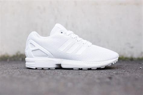 adidas originals zx flux quot all white quot hypebeast