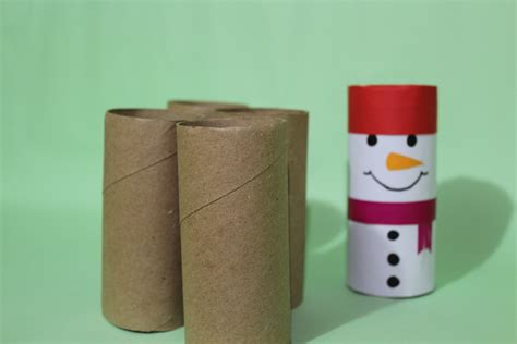 Snowman Toilet Paper Roll Craft - oc craft how to make snowman craft using toilet