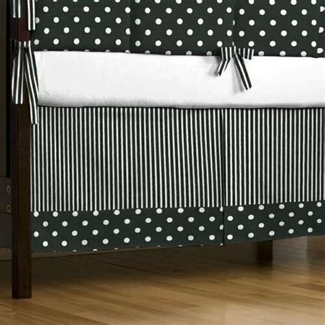 black and white baby bedding black and white dots and stripes crib skirt contemporary