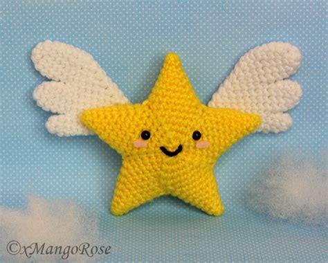 amigurumi wings pattern star with wings amigurumi crochet pattern by xmangorose on
