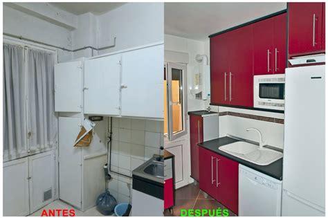 3 cocinas antes y despues foto reforma de cocina antes y despu 233 s de proyectos de