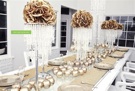 Simple Craft Ideas For Home Decor Gold Wedding Decorations By We Can Package