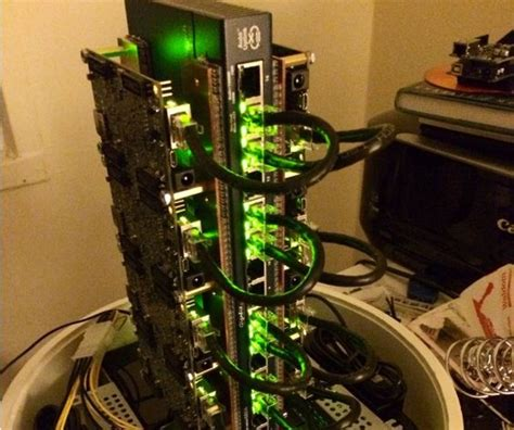 Sets Gaming Supercomputer Cluster diy arm board linux beowulf cluster raspberry pi and diy and crafts