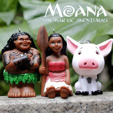 Promo Figure Moana 11pcs moana moana waialiki pua figures toys pet pig plastic doll pendant key ring