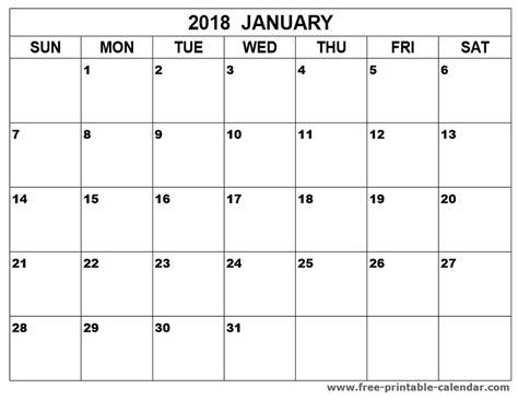 printable january 2018 calendar pinterest january 2018 calendar printable print calendars