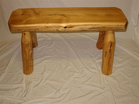 white cedar log bench 3 white cedar half log bench
