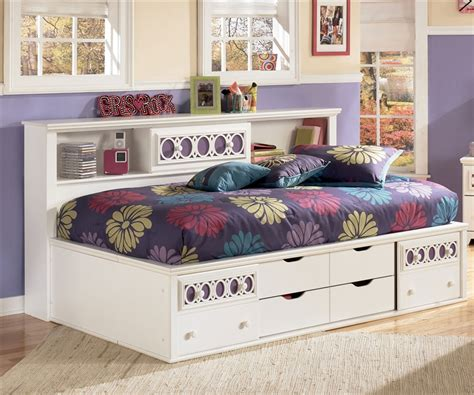 twin size beds for girls ashley furniture zayley bedside storage bed for girls