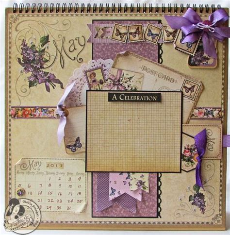 scrapbook calendar tutorial place in time calendar tutorial series part 6 may