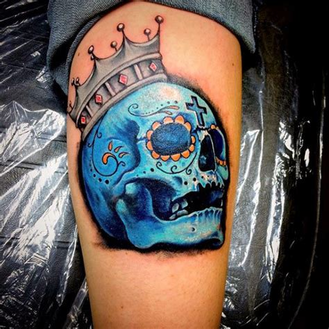 candy skull tattoos for men 100 sugar skull designs for cool calavera ink