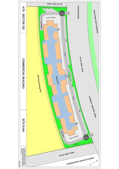 layout plan of sector 44 noida ats kinghood drive shops in sector 152 noida expressway