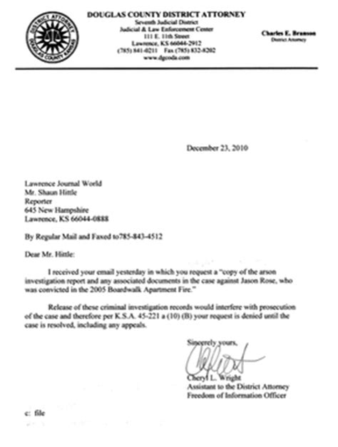 Rejection Letter Of Request Letter Gallery