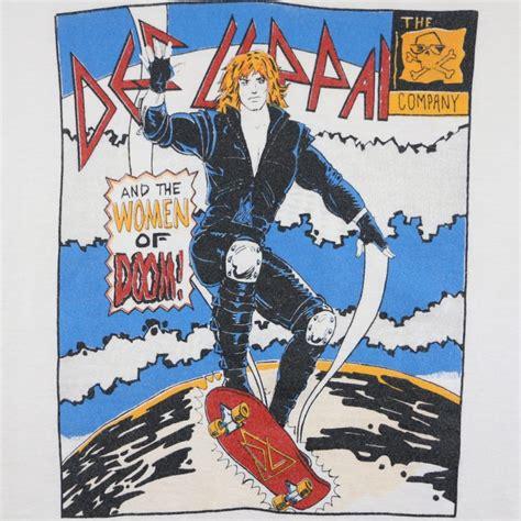 def leppard women def leppard women of doom shirt 1987 wyco vintage