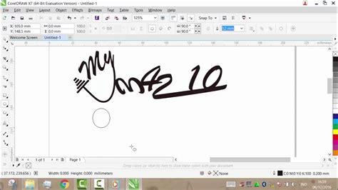 video tutorial corel draw x7 tutorial cara membuat logo dengan coreldraw x7 beserta