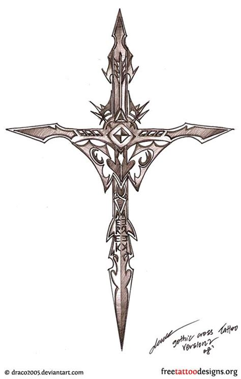 cross tattoo designs pinterest gothic cross tattoo design tattoo stuffs pinterest