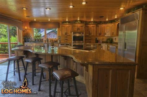 log home kitchen islands golden eagle log homes log home cabin pictures photos