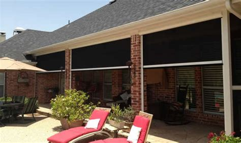 Motorized Awning Electric Retractable Solar Screens For Houston Covered
