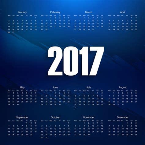 Azul Calendario Azul 2017 Calend 225 Baixar Vetores Gr 225 Tis