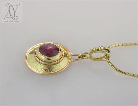 Star Ruby Gold Lentille Necklace