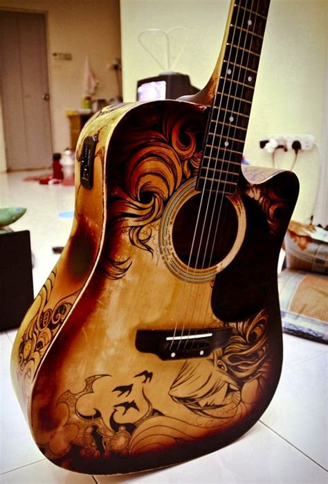 40 beautiful and creative guitar artworks bored art