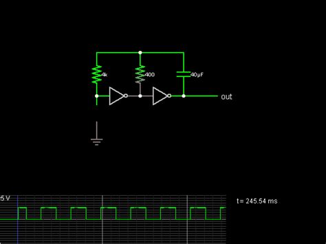 inverter oscillator circuit diagram inverter oscillator circuit simulator