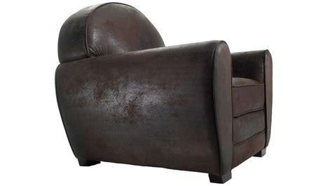 fauteuil club cuir vieilli fauteuil club vintage en microfibre aspect cuir vieilli fauteuil pas cher