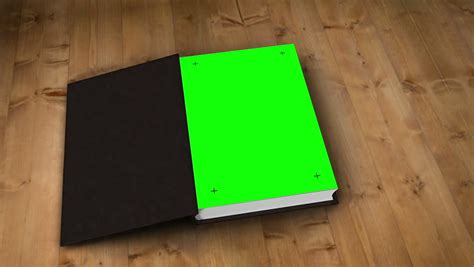 digital picture book digital animation of book opening to green screen stock