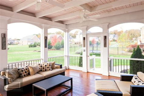 Brentwood Screen Porch White Open Airy Design The Porch