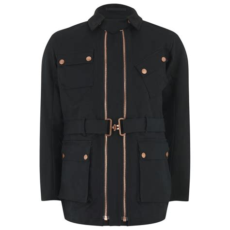 Jacket Parka Bahan Canvas white vc s track cotton canvas jacket black free uk delivery 163 50