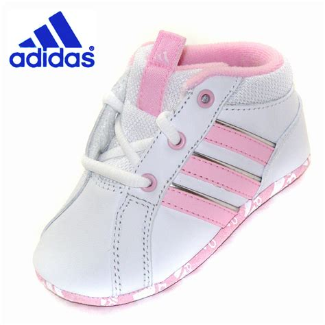 baby adidas crib shoes whitepink leather ebay