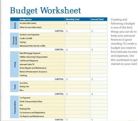 organizational budget template seven free budget and financial organization printables