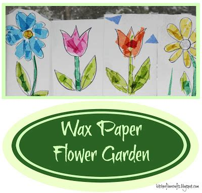 How To Make Wax Paper Flowers - kitchen floor crafts wax paper flower garden
