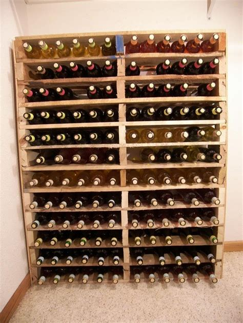Make A Wine Rack Out Of A Pallet by Wine Rack Out Of Pallets Drinks And Eats